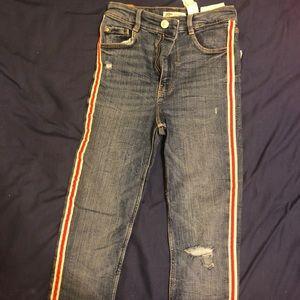 Zara size 4 ripped jeans